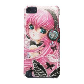 蝶を持つ美しい女の子- Ipod touchの場合 iPod Touch 5G ケース