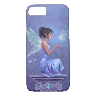 蝶を持つOpaliteの青及び紫色の妖精 iPhone 8/7ケース