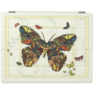 蝶カラフルなコラージュのiPad Smartcover iPadスマートカバー