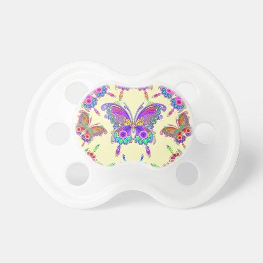 蝶カラフルな入れ墨のスタイル おしゃぶり