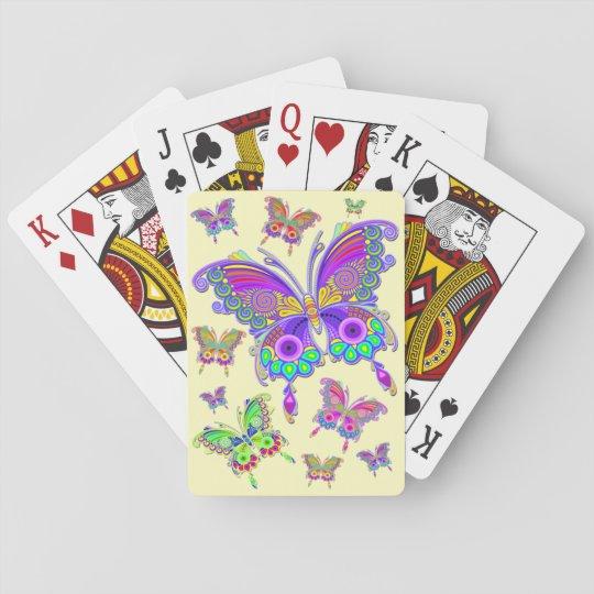 蝶カラフルな入れ墨のスタイル トランプ