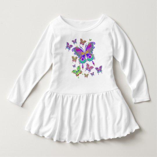 蝶カラフルな入れ墨のスタイル ドレス