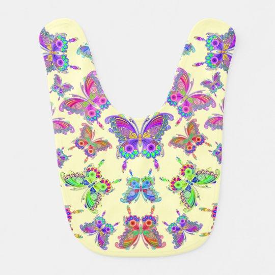 蝶カラフルな入れ墨のスタイル ベビービブ