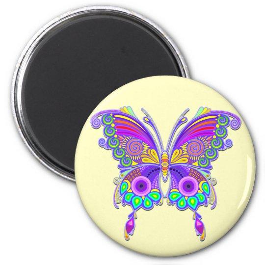 蝶カラフルな入れ墨のスタイル マグネット