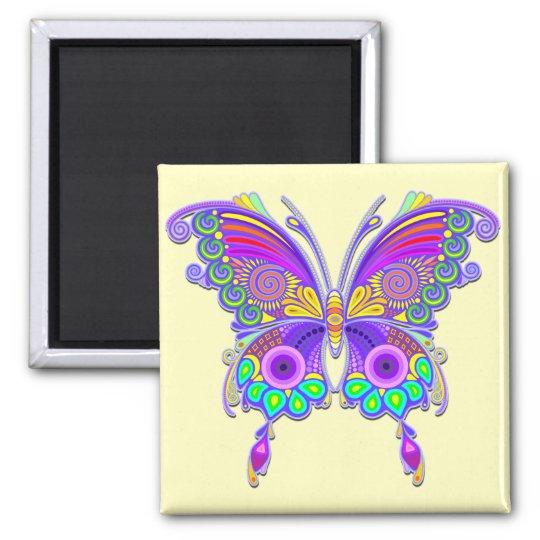 蝶カラフルな入れ墨のスタイル 磁石