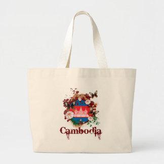 蝶カンボジア ラージトートバッグ