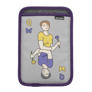 蝶カード女の子の女王 iPad MINIスリーブ