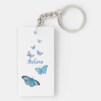 蝶キーホルダー キーホルダー