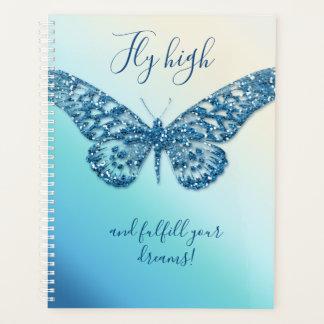 蝶グリッターによってはプランナーが飛びます プランナー手帳