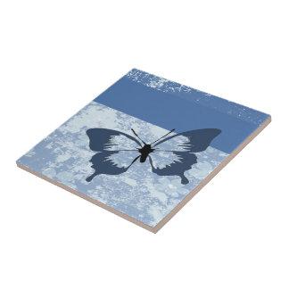 蝶シルエット タイル