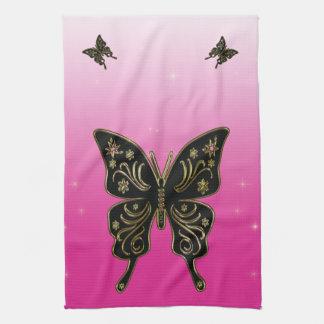 蝶タオル キッチンタオル