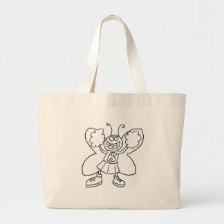 蝶チアリーダー ラージトートバッグ