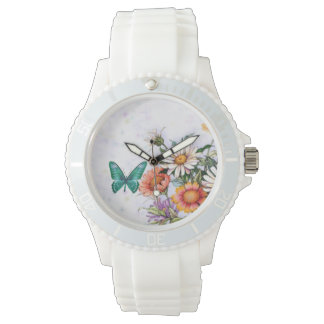 蝶デイジーのスポーティな腕時計 腕時計