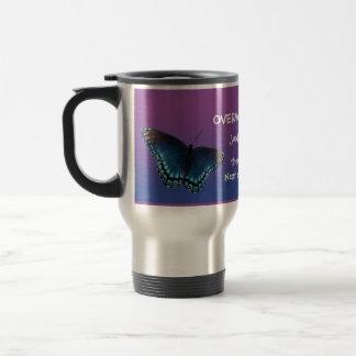 蝶トンボのinsirationalメッセージのマグ15e ステンレス製トラベルマグカップ