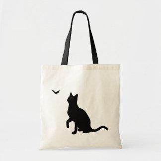 蝶バッグを持つ猫 トートバッグ