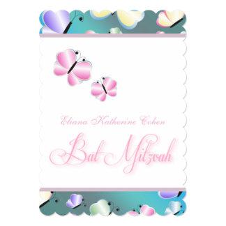 蝶バルミツワーのティール(緑がかった色) カード