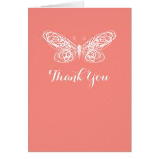 蝶バルミツワーの珊瑚のサンキューカード カード