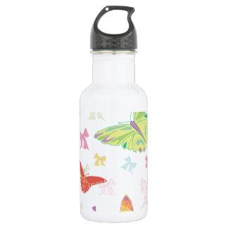 蝶パターン ウォーターボトル