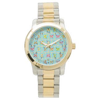 蝶パターン 腕時計