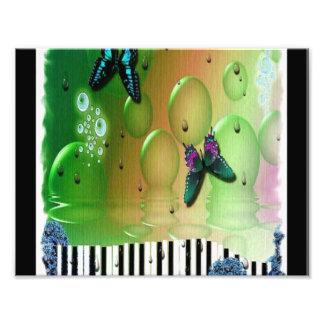 蝶ピアノ鍵 フォトプリント