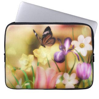 蝶ファンタジーの庭のラップの上の袖 ラップトップスリーブ