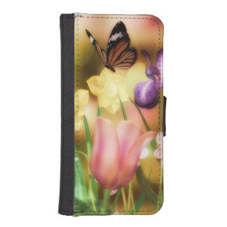 蝶ファンタジーの庭のiPhoneの銀河系のウォレットケース iPhoneSE/5/5sウォレットケース