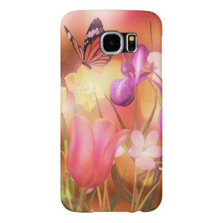 蝶ファンタジーの庭のSamsungの銀河系S6の箱 Samsung Galaxy S6 ケース
