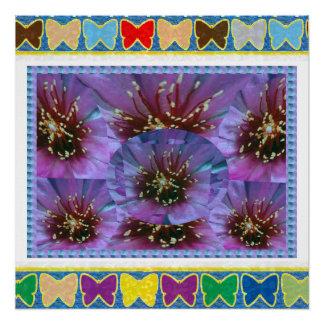 蝶フレームは中心IMG yrの写真の文字を取り替えます ポスター