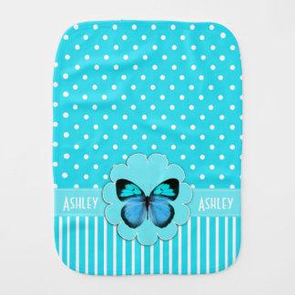 蝶ベビー用バーブクロスが付いている青緑 バープクロス