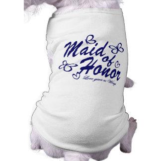 蝶メイド・オブ・オーナー(花嫁付き添い人) 犬用袖なしタンクトップ