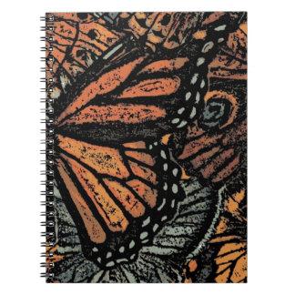 蝶モチーフのノート ノートブック