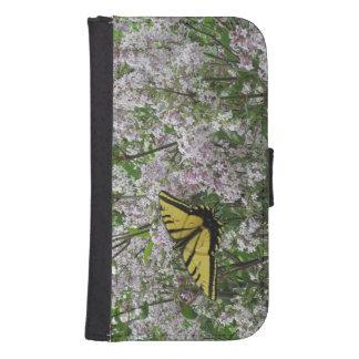 蝶ライラックのSamsungのウォレットケース