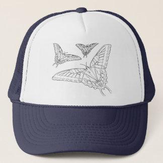 蝶ラインスケッチ キャップ