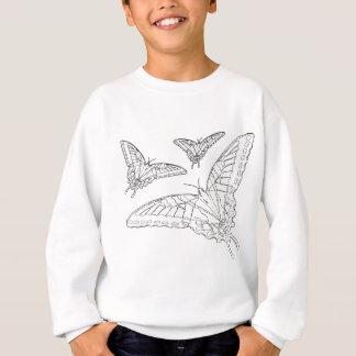 蝶ラインスケッチ スウェットシャツ
