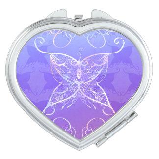 蝶リボンのコンパクトの鏡