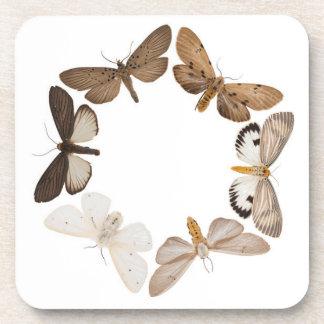 蝶リングや輪が付いているコースター ビバレッジコースター