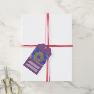 """""""蝶リース""""のクリスマスのプレゼントのラベル(RedGreenBlu) ギフトタグ"""