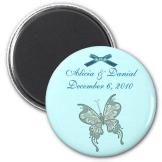 蝶保存日付の磁石 マグネット