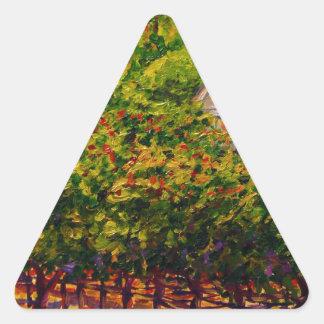 蝶入り江のワイナリーの聖者のGenevieveのチャペル 三角形シール