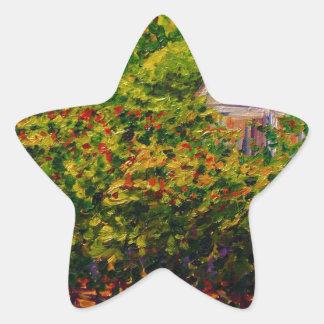 蝶入り江のワイナリーの聖者のGenevieveのチャペル 星シール