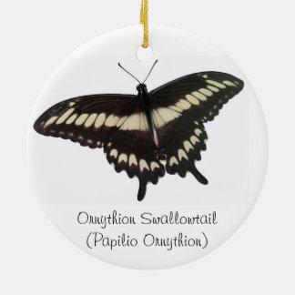 蝶円及びOrnythionのアゲハチョウのオーナメント セラミックオーナメント