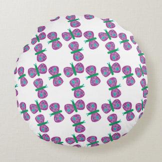 蝶円形の枕 ラウンドクッション
