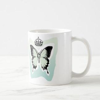 蝶及び王冠 コーヒーマグカップ