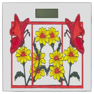 蝶及び花IIの体重計 体重計