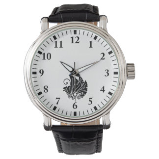 蝶型のイチョウの葉 腕時計