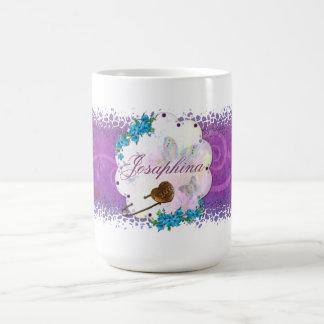 蝶夢場面によって宝石で飾られる名前 コーヒーマグカップ