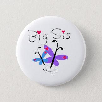 蝶大きいSis 5.7cm 丸型バッジ