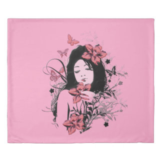 蝶女の子3 掛け布団カバー