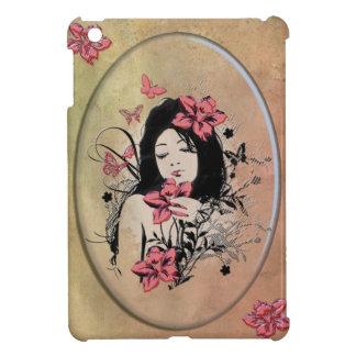 蝶女の子3 iPad MINIケース