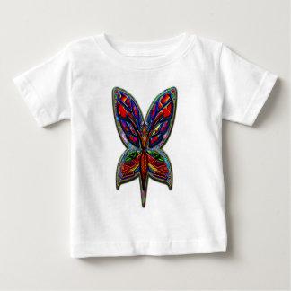 蝶女性4のプリント ベビーTシャツ